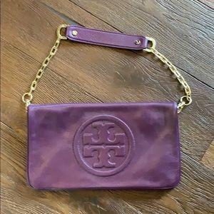 Tory Burch Purple Reva Clutch Like New
